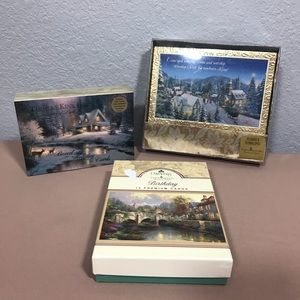 Lot of Thomas Kinkade Stationary/Birthday Cards